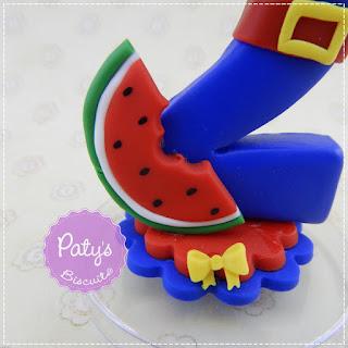 Vela decorada Show da Luna - Topo de bolo de festa infantil - Paty's Biscuit