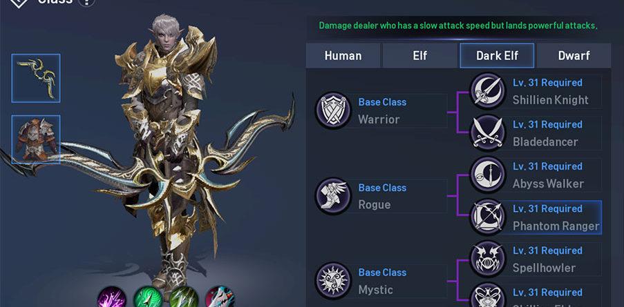 Lineage 2 Revolution Dark Elf Phantom Ranger Guide Class and Skills