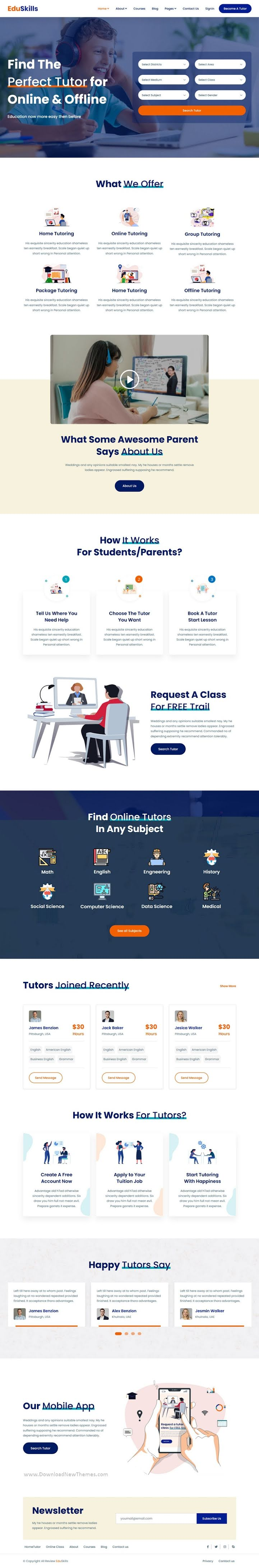 Online Courses & LMS HTML Template