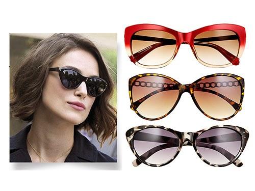 Rostos no formato de coração ou um pouco quadrado ficam ótimos quando o óculos  é do tipo gatinho. Keira Knigthley é uma adoradora de óculos tipo gatinho. 5edec21a9f