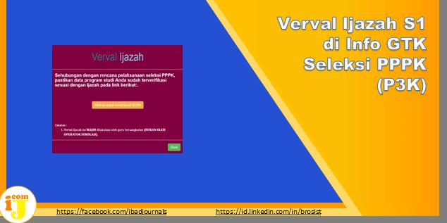Verval Ijazah S1 di Info GTK Seleksi PPPK (P3K)