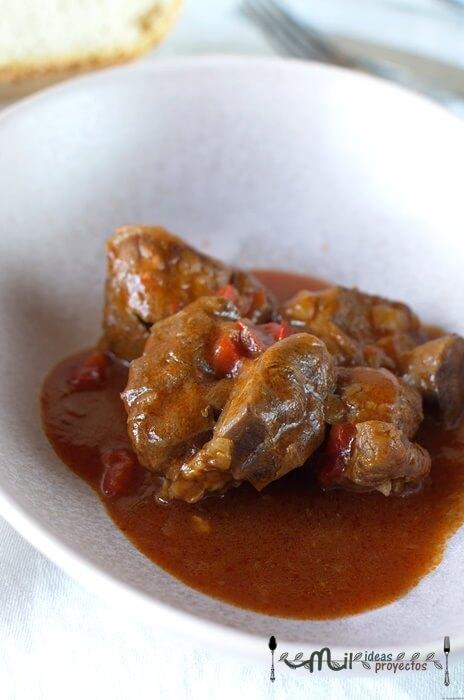 elaboración paso a paso de carne con tomate