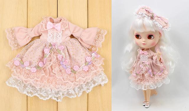 Roupa de boneca estilo princesa / Hime Lolita no Aliexpress