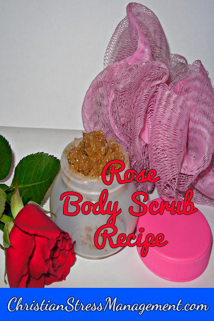 Natural rose body scrub recipe for stress management