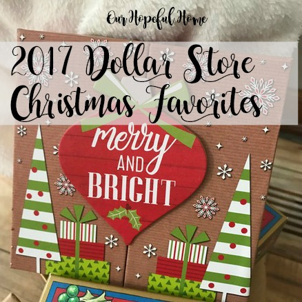 Merry and Bright gift box Dollar Store
