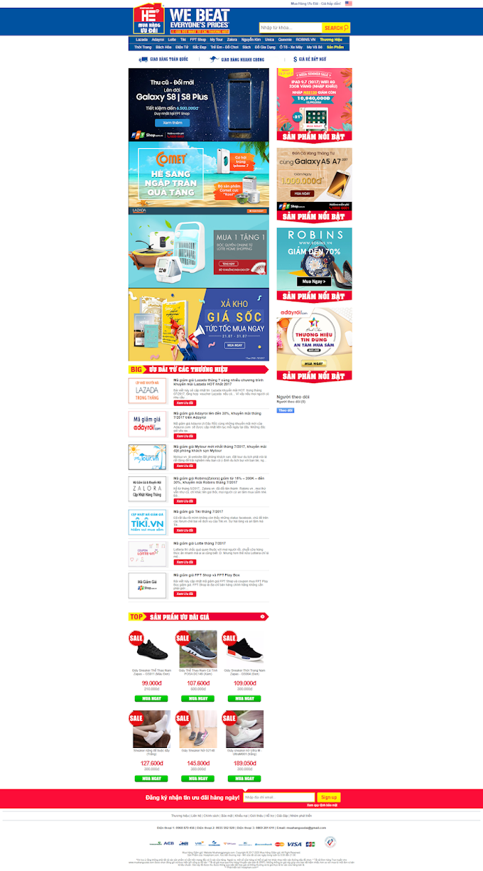 Mẫu website bloger đẹp miễn phí