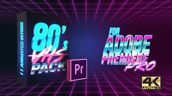 80's vhs intro pack | mogrt for premiere pro - INSTAVFX
