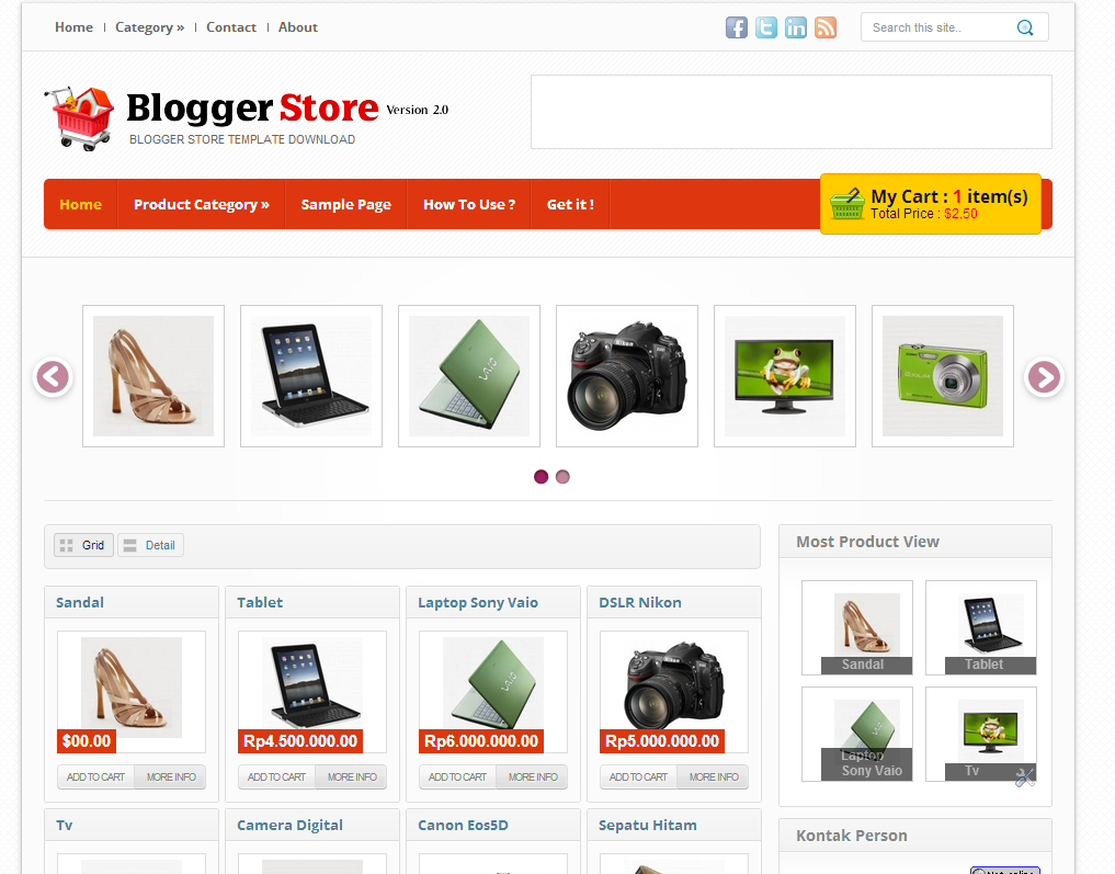 Template blogger toko online