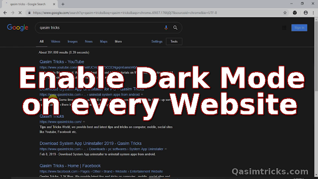 How to Enable the Dark Mode / Night Mode on any Website you Visit.