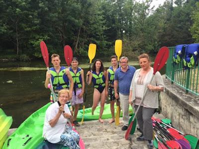 pour la ferte alais -canoe sur la rivière essonne