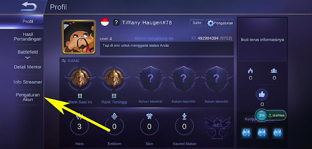 pengaturan akun mobile legend