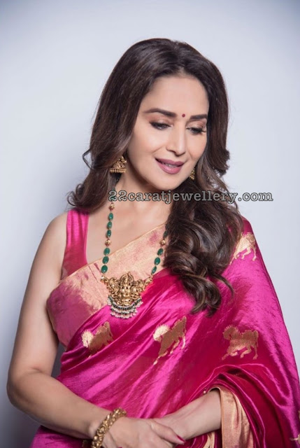 Madhuri Dixit in Emerald Beads Haram
