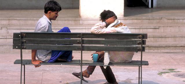 Dos pacientes del Instituto del Comportamiento Humano y Ciencias Relacionadas, en Delhi, India.OMS/P. Virot