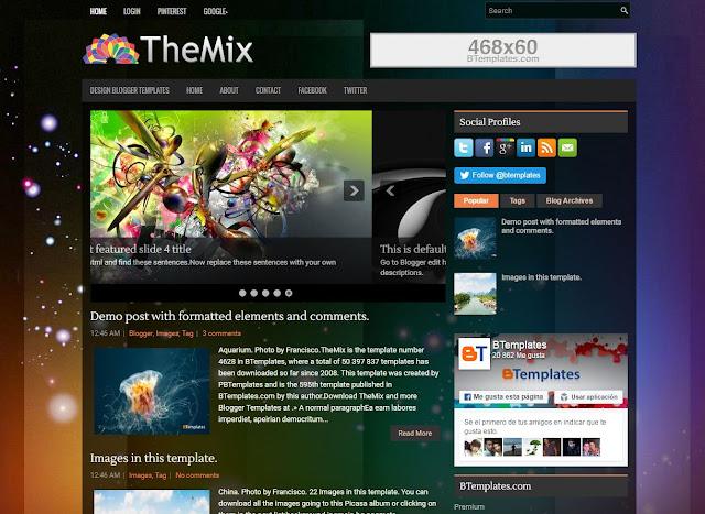 template blog keren