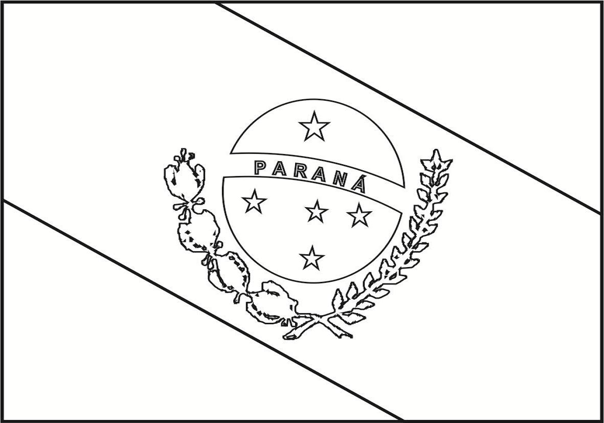 Bandeira do Paraná para colorir
