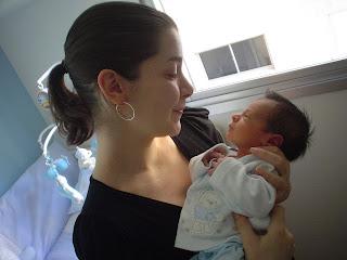 Primeira foto com a mamãe