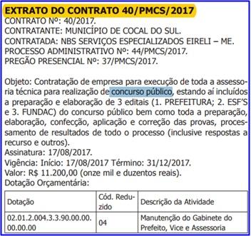 Edital Prefeitura de Cocal do Sul SC 2017