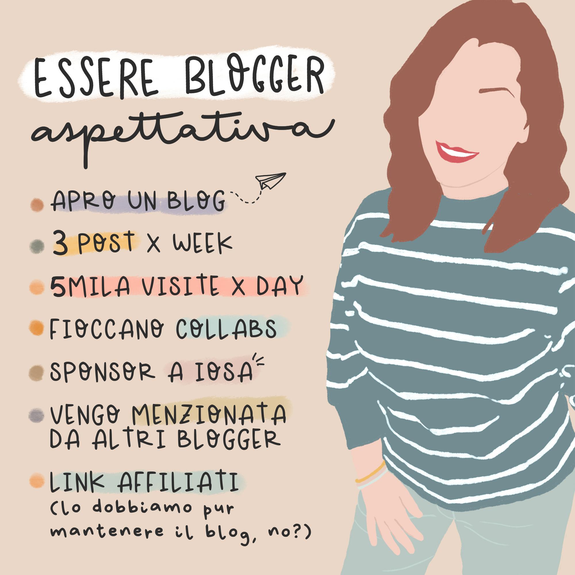 le aspettative della blogger