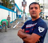 Secretário de Esportes Luiz Otávio de Oliveira acompanha as obras de revitalização do Ginásio Pedrão