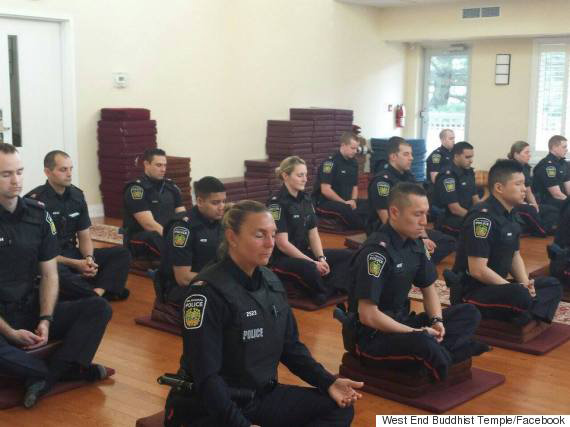 Canada's Ontario Police officers are Meditating