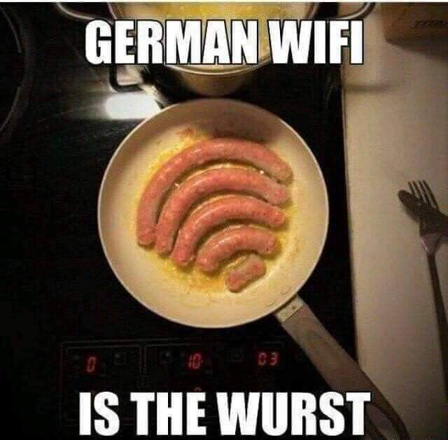 Funny German Wifi Is The Wurst Pun Picture