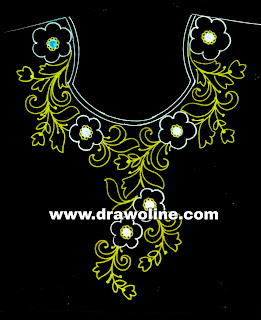 Drawings for hand embroidery/fashion blouse draw/hater kajer design drawings