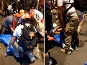 Un hombre fue herido por arma de fuego durante movilización en centro de Lima