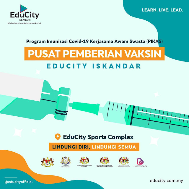 EduCity Sports Complex is a PPV PIKAS (Vaccination Centre) under MITI for Manufacturing Industry