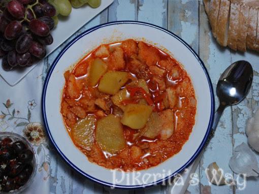 Sopa de patata extremeña