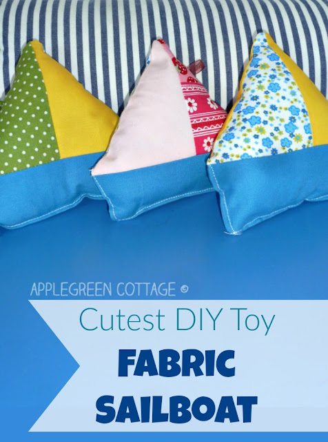Diy fabric sailboat - easy to make and fun to play with. Want to make one too?