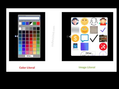 Color Literals & Image Literals.