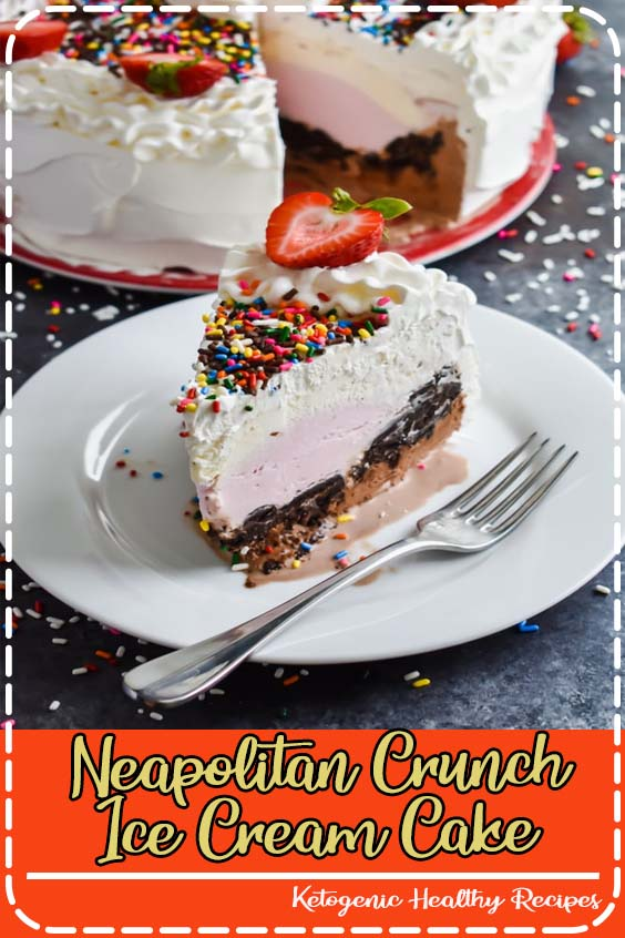 And then by the time I got around to it Neapolitan Crunch Ice Cream Cake