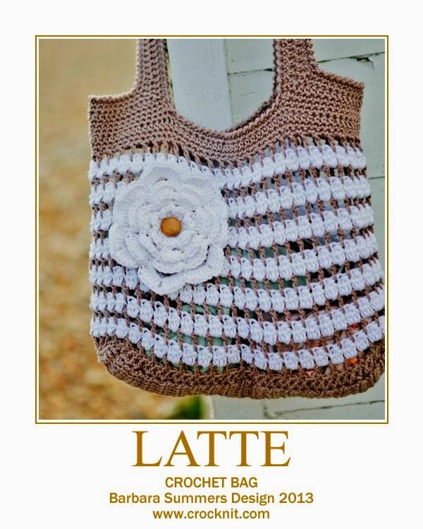 Microcknit Creations Summer Crochet Latte Bag