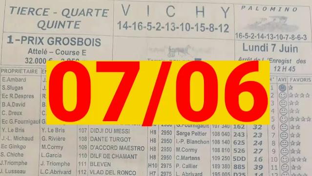 programme quinté+ Pronostic quinté lundi 07/06/2021
