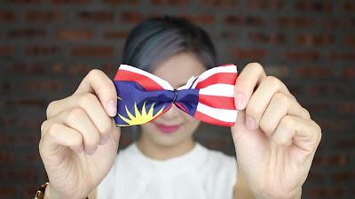 Diy flag hairbow (super easy)