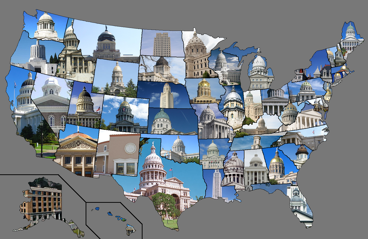 State capitol buildings by state