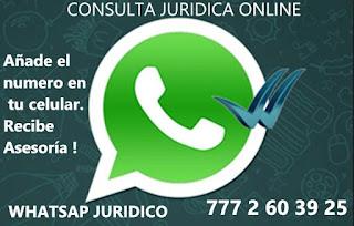 Telefono whatsapp para asesoría jurídica