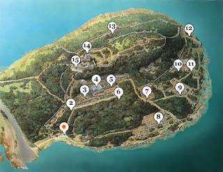 Mapa de Butrint o Butrinto.
