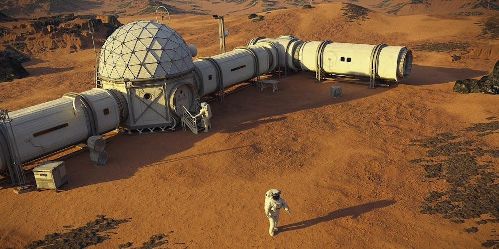 Mars base by Dotted Yeti