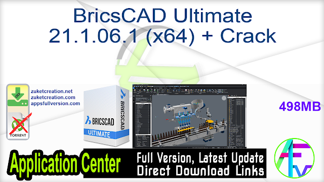 BricsCAD Ultimate 21.1.06.1 (x64) + Crack
