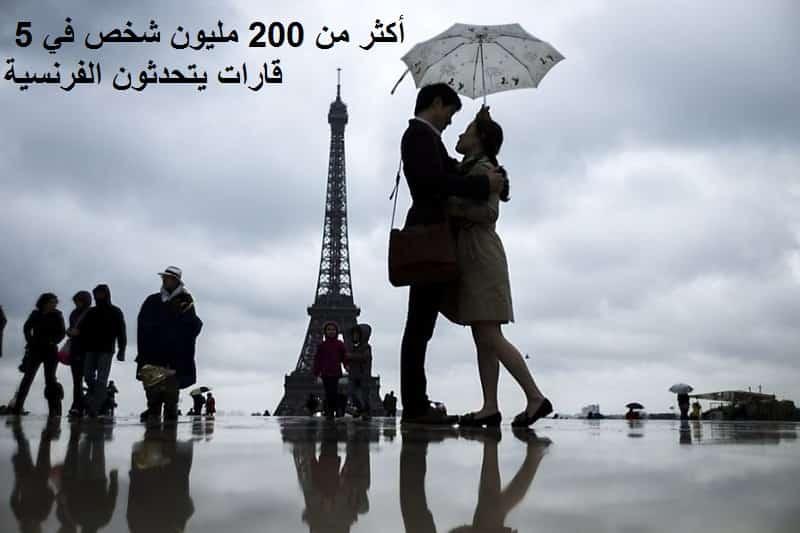أكثر من 200 مليون شخص في 5 قارات يتحدثون الفرنسية