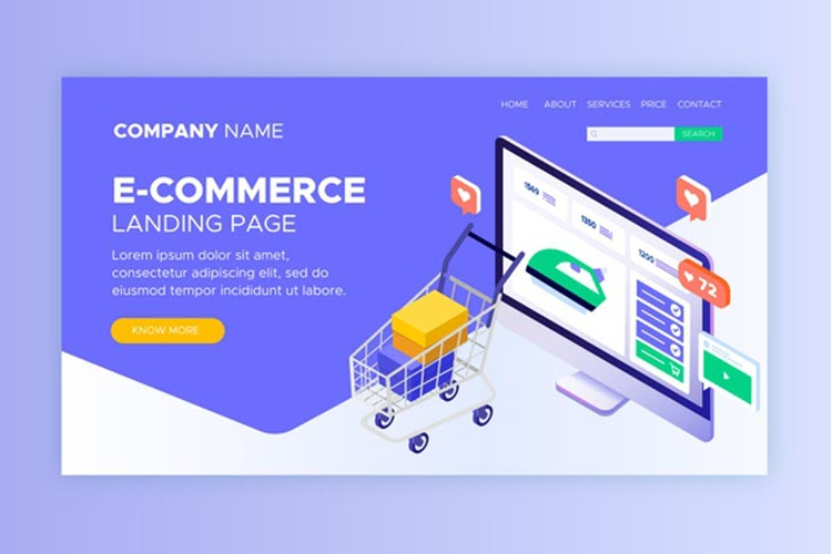 Download Wallpaper Isometric E-commerce Landing Pages Free Vector
