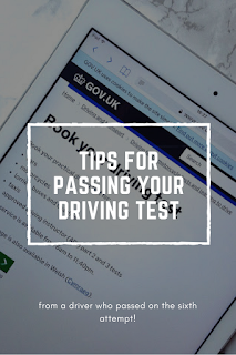 Pin me: Tips for passing your driving test