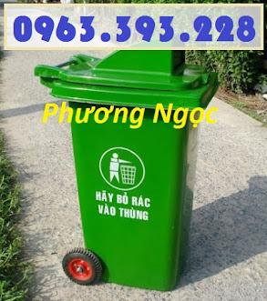 Thùng rác nhựa 240L nắp hở, thùng rác 240 Lít nhựa HDPE, thùng rác nắp hở TRNH240L2
