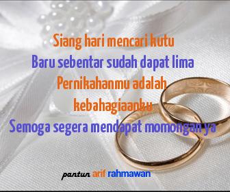 Pantun Ucapan Pernikahan Untuk Sahabat Operator Sekolah