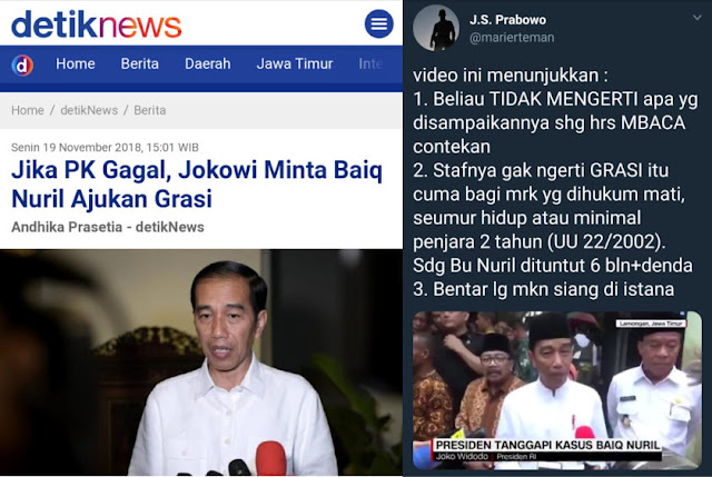 Jokowi Minta Baiq Nuril Ajukan Grasi Jika PK Gagal, Suryo Prabowo Angkat Bicara