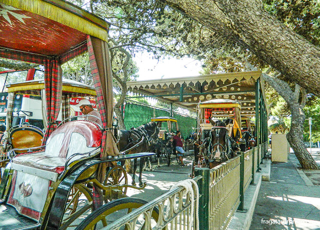 Charretes de aluguel no Ġnien Howard, parque público em Rabat, Malta