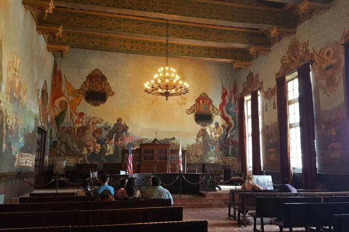 Travel california diaries roadtrip los angeles to san for Mural room santa barbara courthouse