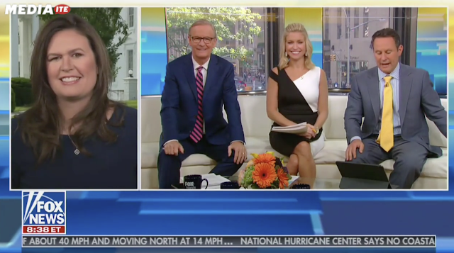 Fox & Friends Challenge Sarah Sanders Over Drudge Border Wall Headline: 'Less Than 2 Miles Built'