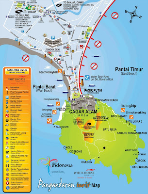 Pantai Pangandaran Tourist Map